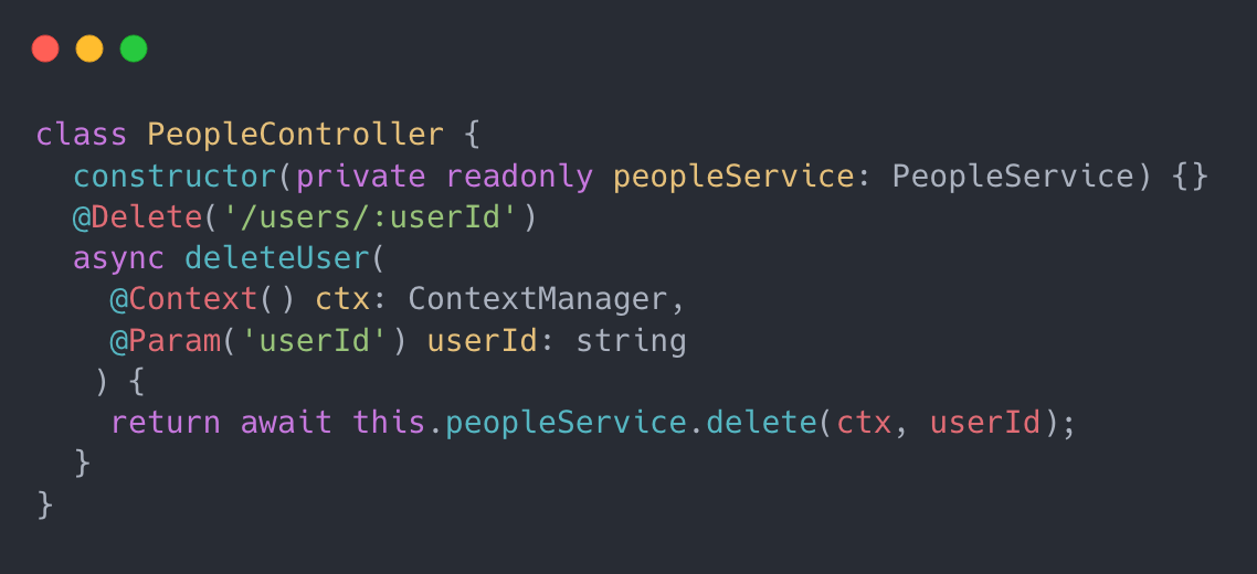 Context Manager code example