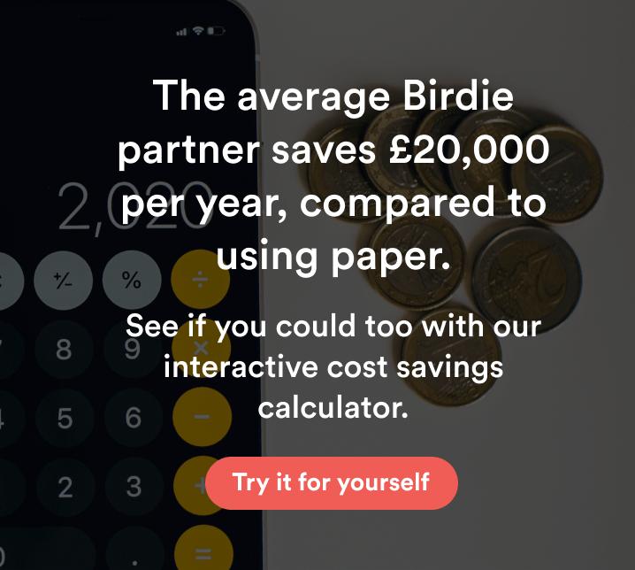 CTA button to go to Birdies cost saving calculator
