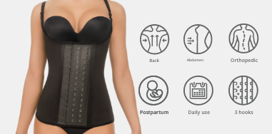 thermal waist trainer in black