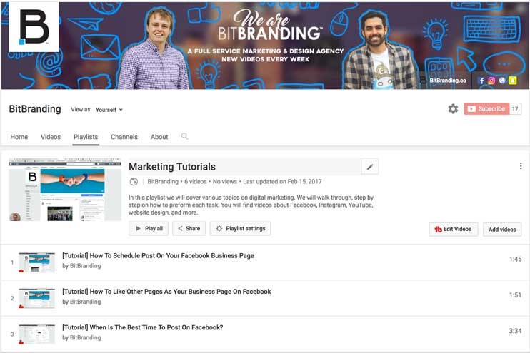 bitbranding youtube page, bit branding youtube, social media, inbound marketing