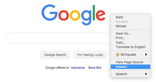inspect Google Chrome