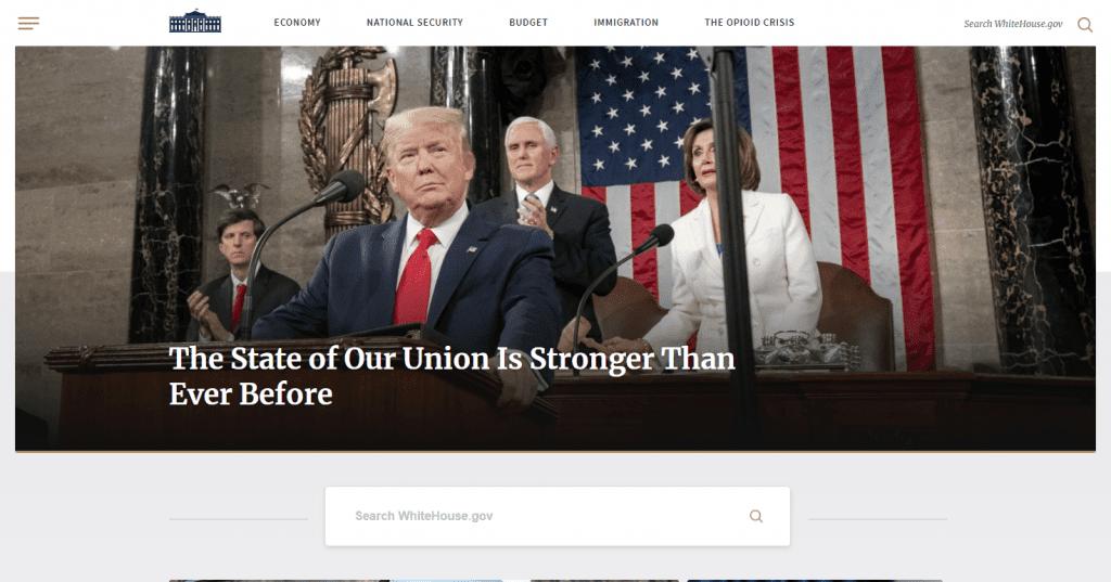 website white house