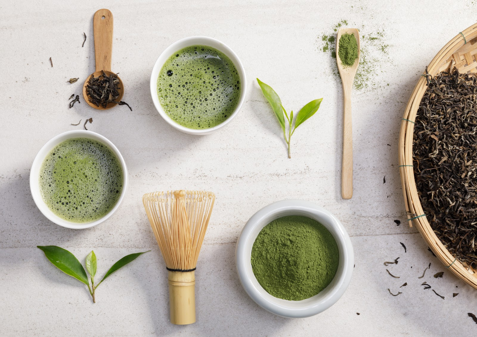 matcha tea and tools