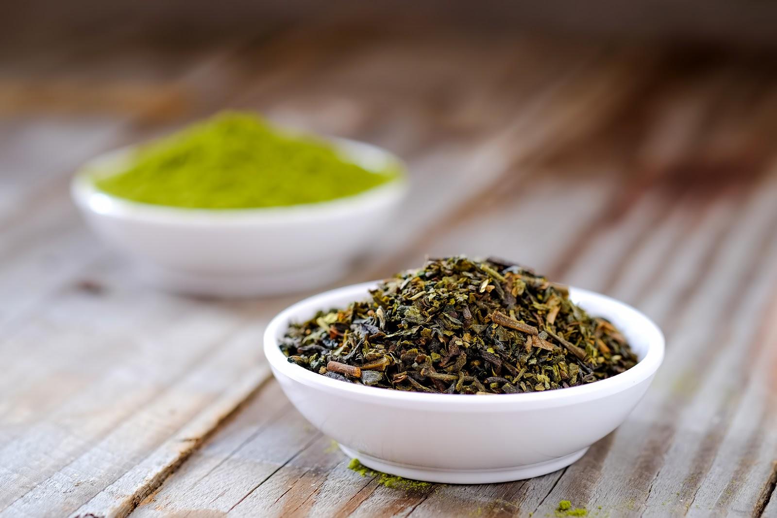 gunpowder green tea and matcha tea