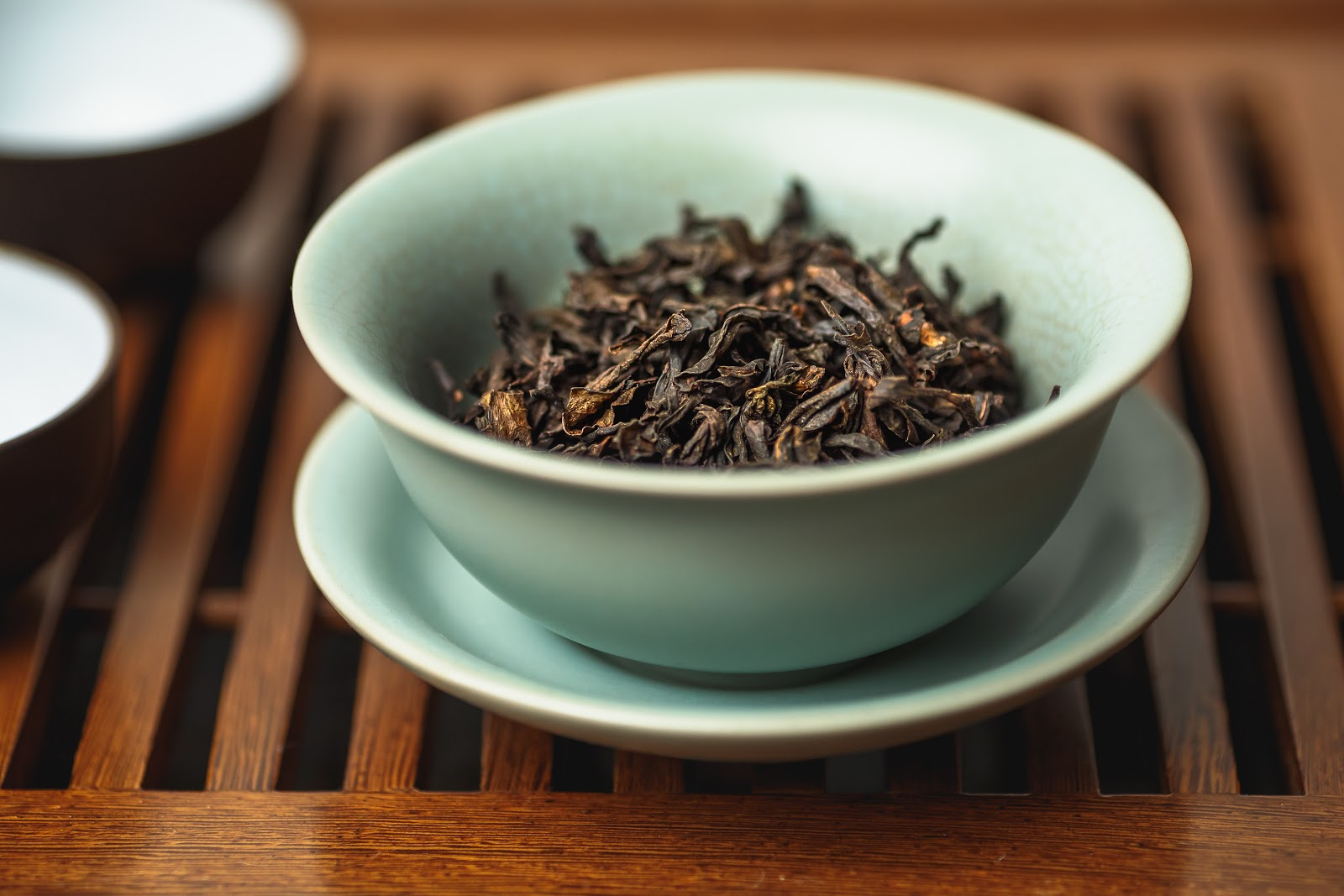 da hong pao leaves in cup