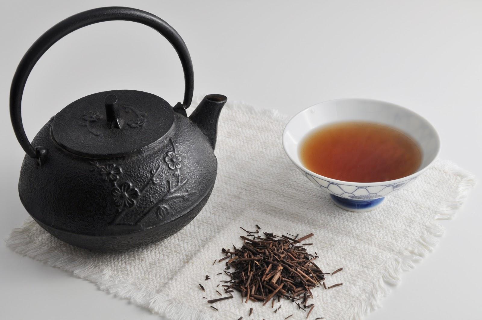 brewed hojicha tea
