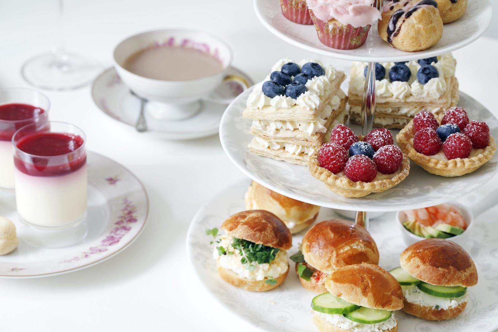 tea sandwiches: afternoon tea spread