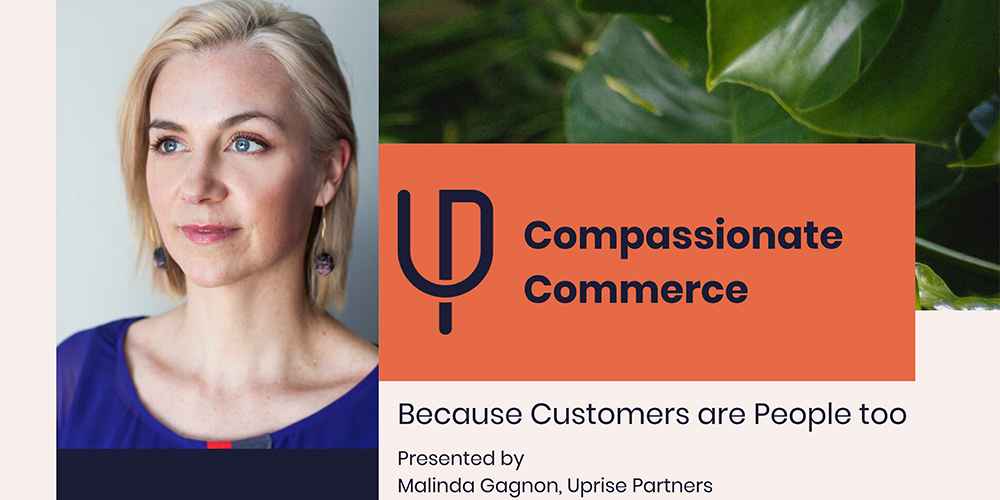 Image of Malinda Gagnon with the title Compassionate Commerce