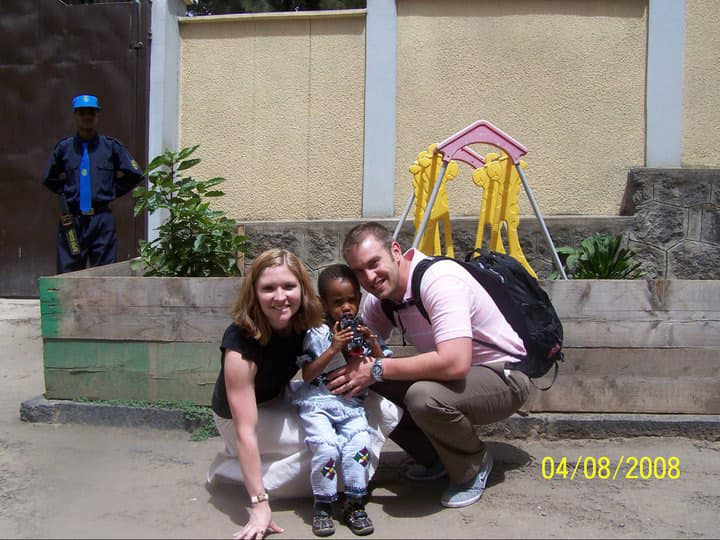 A photo of Tesi, Zach & tariku in Ethiopia - The Adventure Project