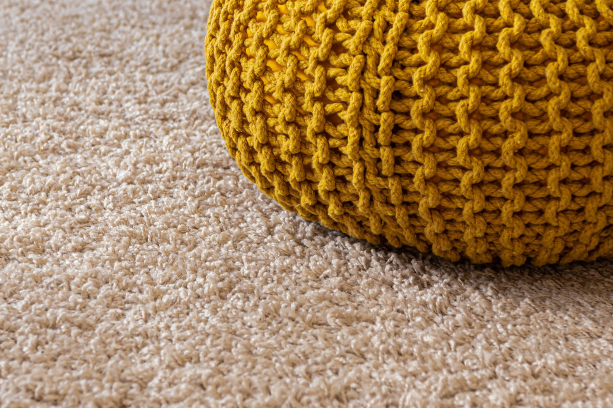 Carpet with the poof