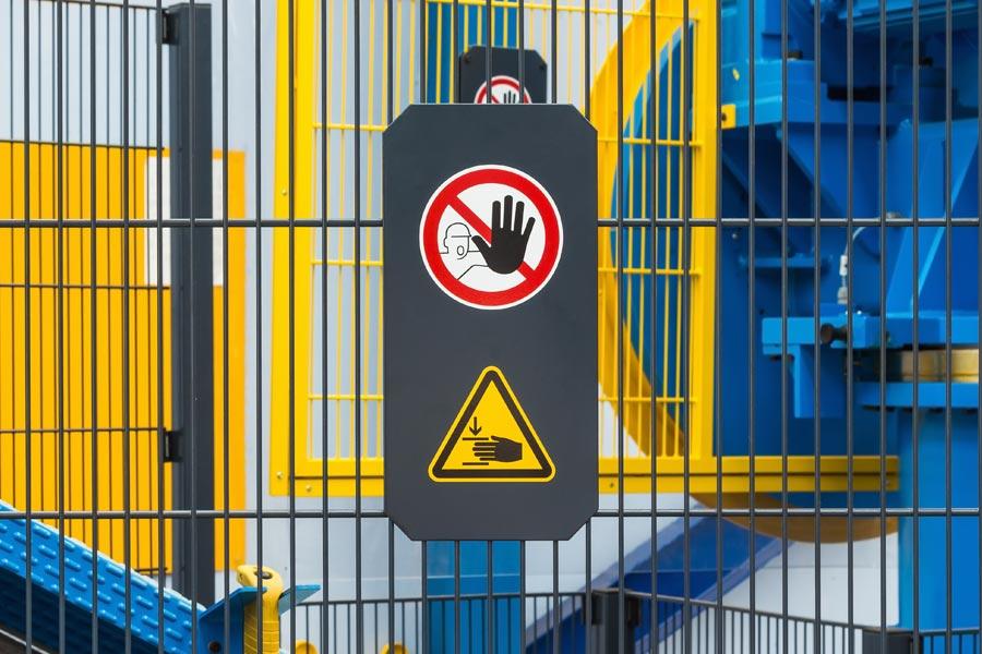 Photo of safety signage.