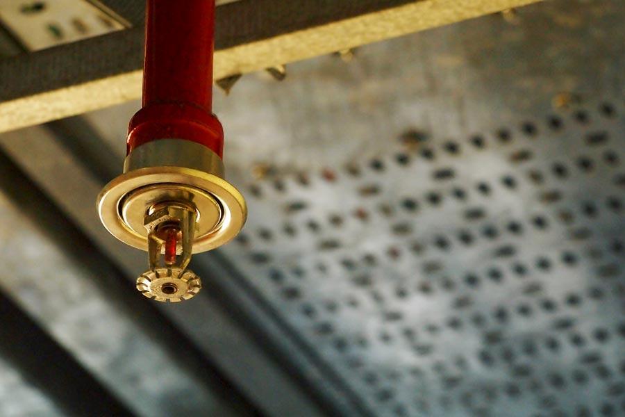 Photo of a Fire Sprinkler System