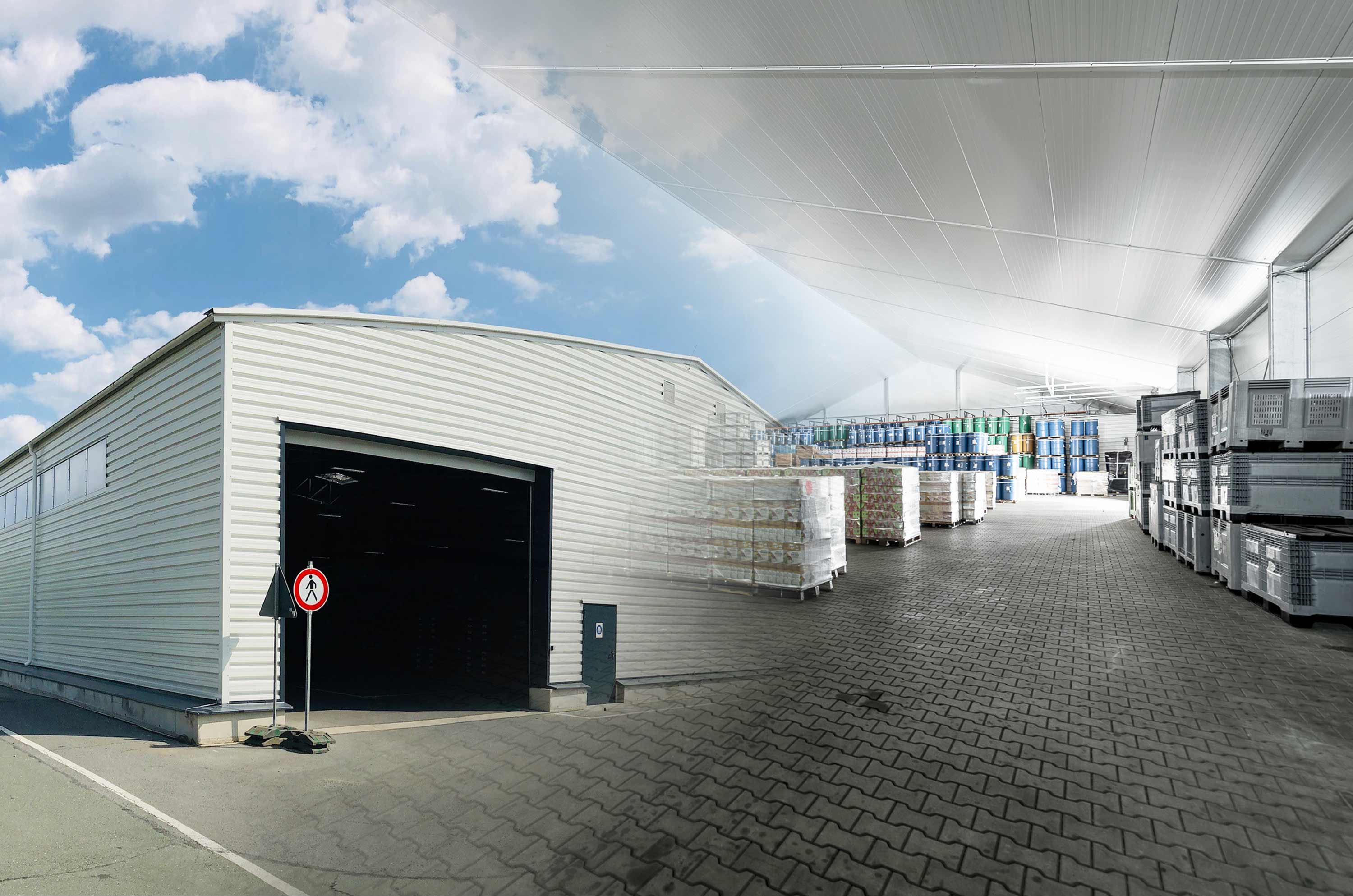 Photograph of a Completed Internal andWarehouse External blended together