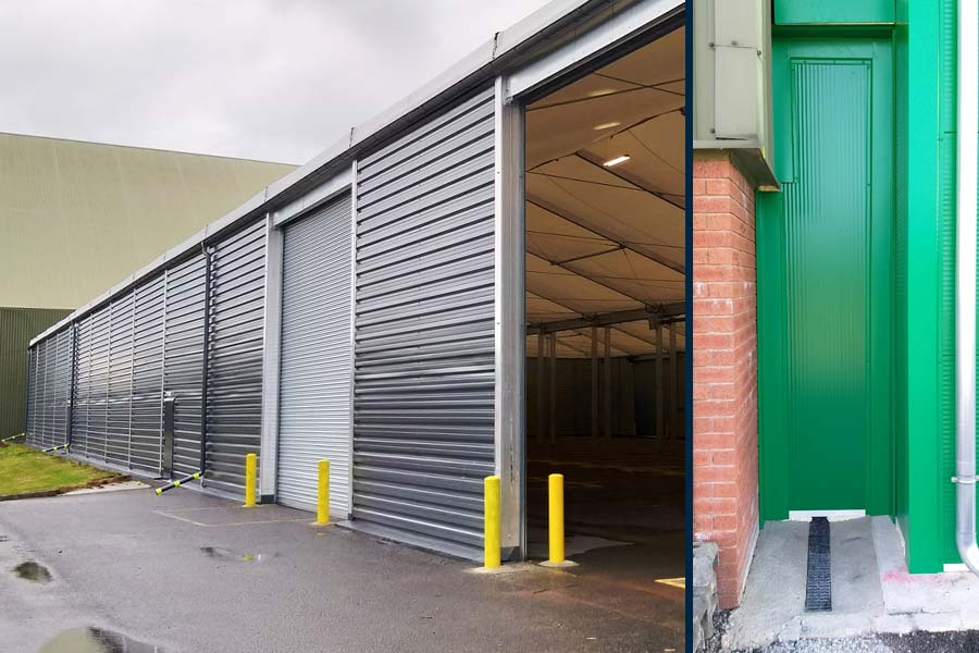 Photography of a building extension and a tunnel link from BigBox Buildings.