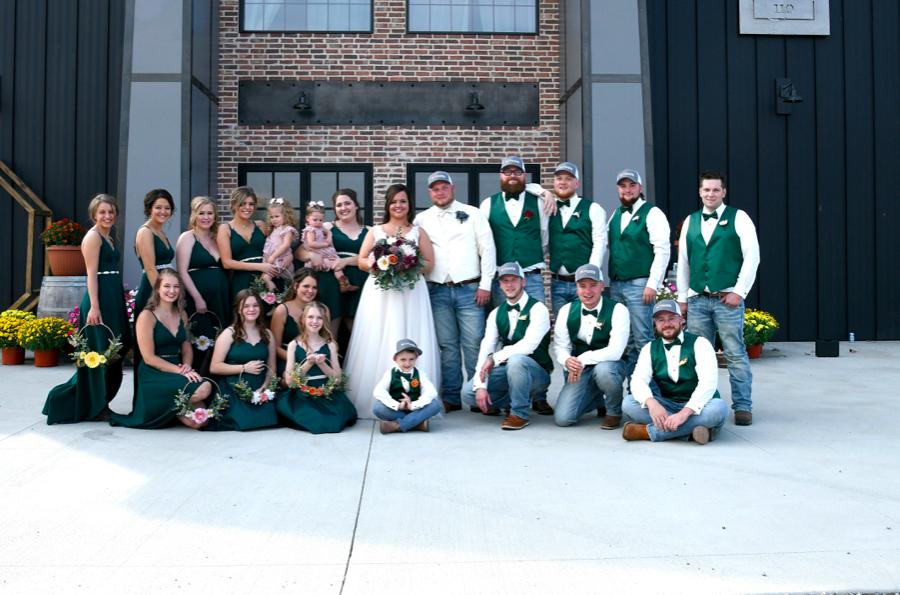 Leslie wedding bridal party