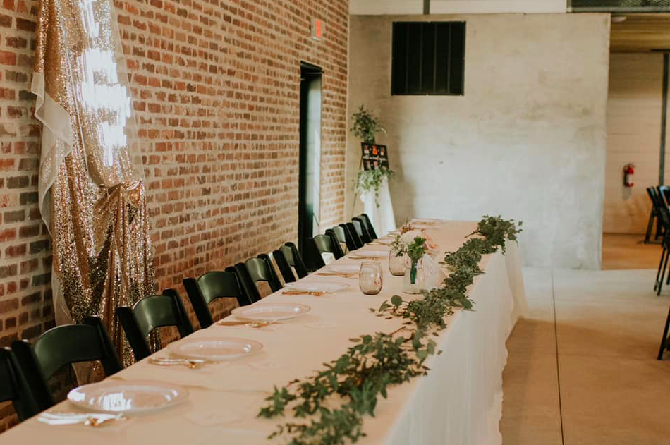Hiatt Wedding Head Table Side View