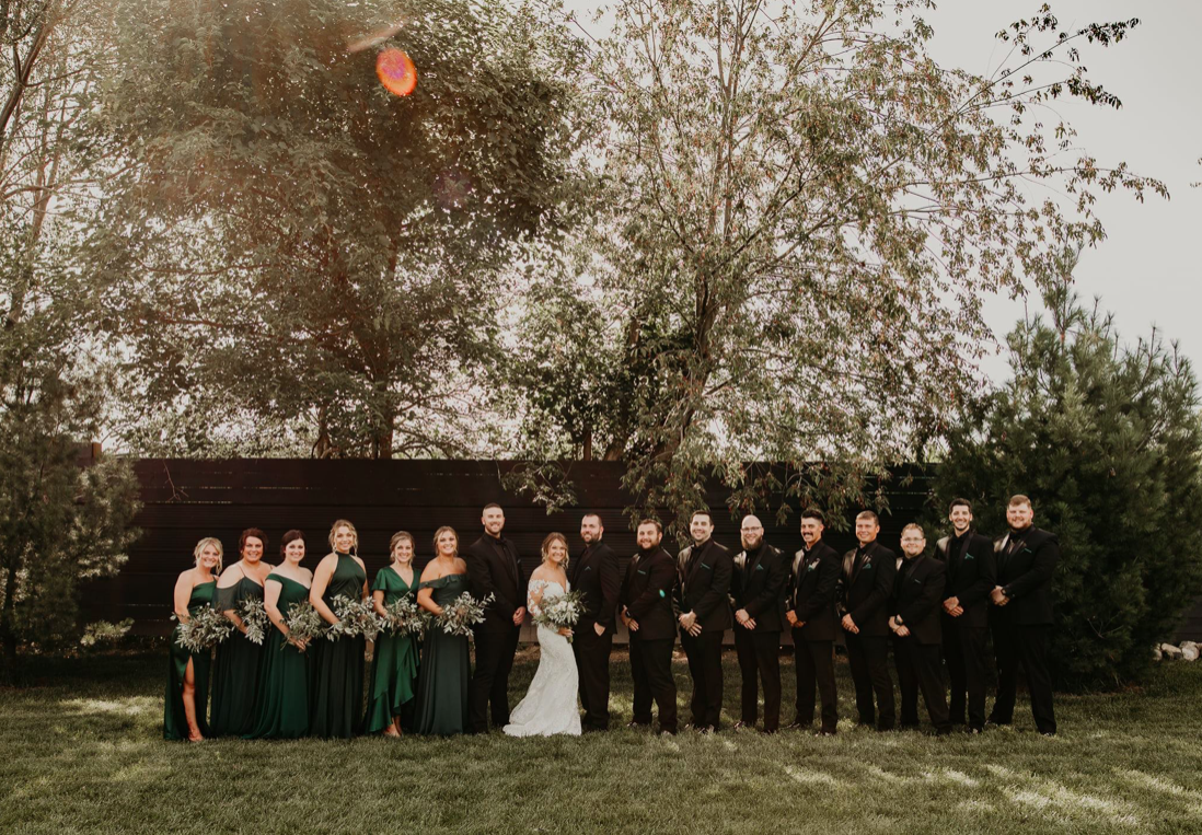 Glass Bridal Party