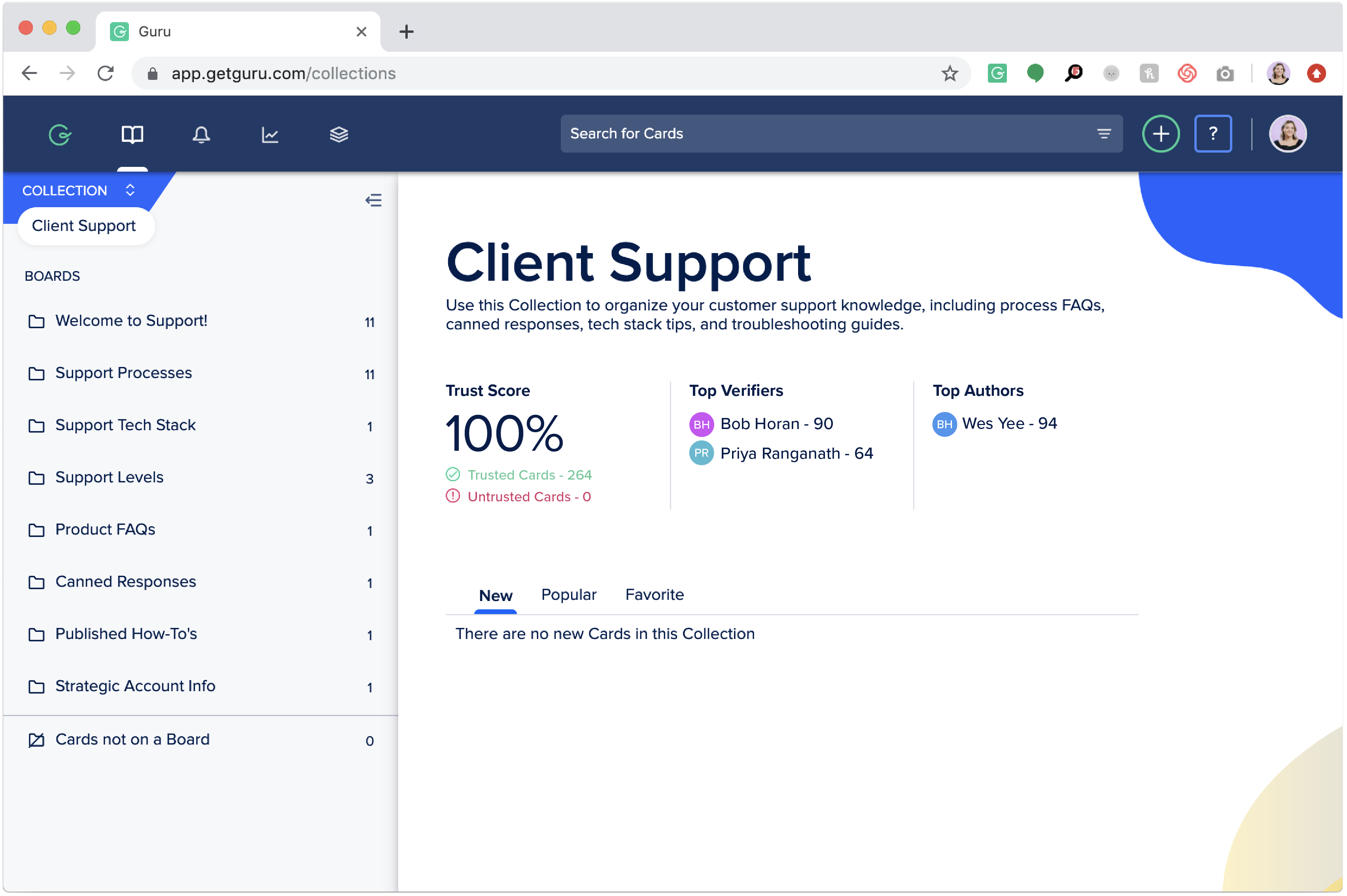 Client Support Framework Screenshot