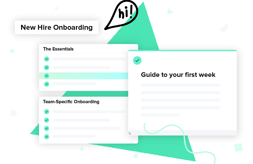 A Guru Card and collection of cards that are designed for internal employee onboarding