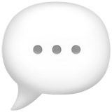 Speech bubble emoji