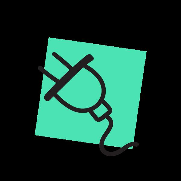 Plug doodle icon