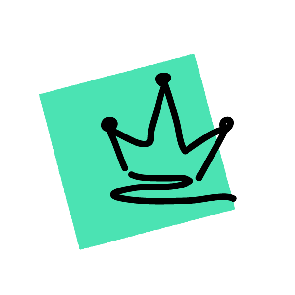 Crown doodle icon