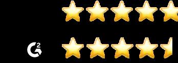 4.8/5 star rating from Gartner 4.6/5 star rating from G2