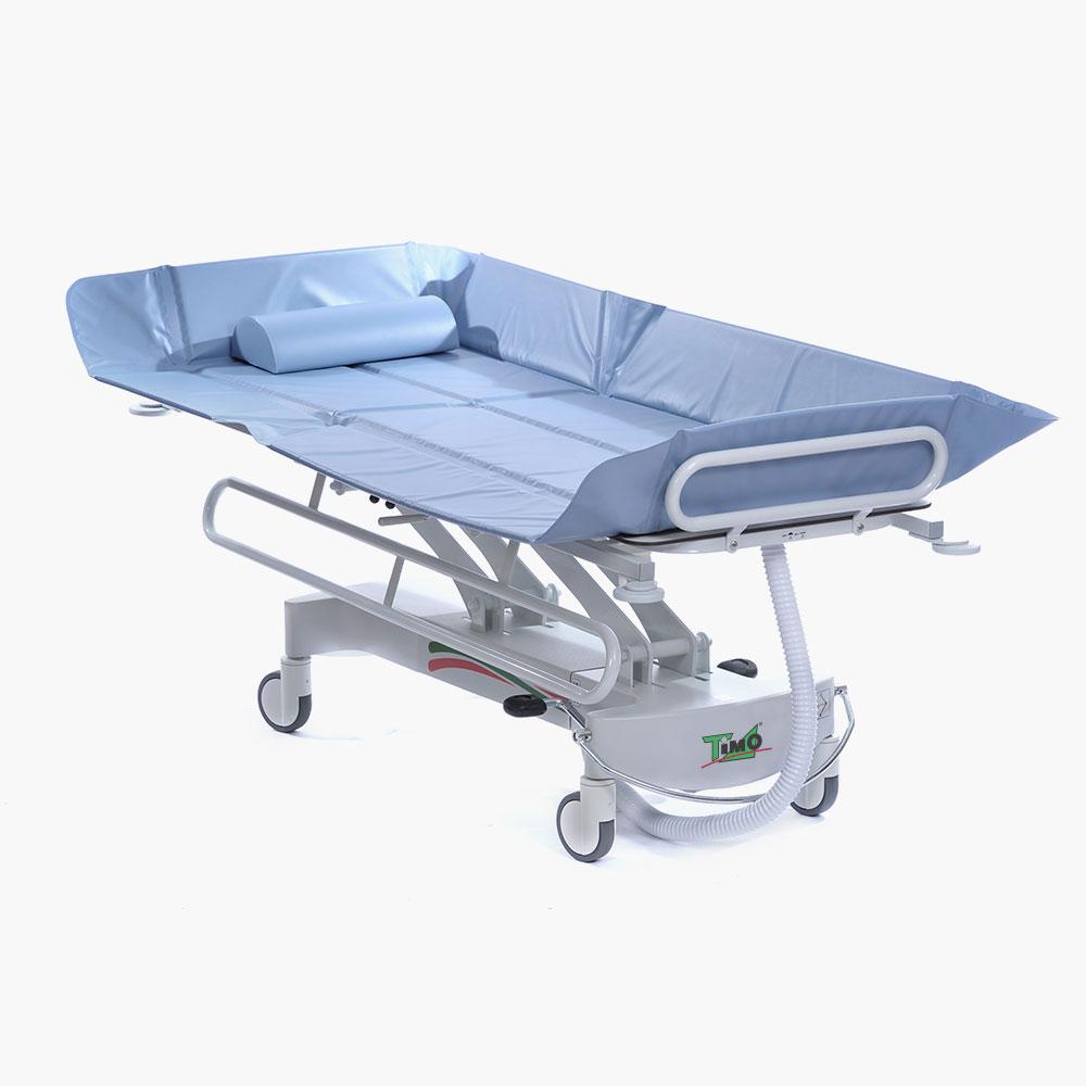 Hydraulic Shower Trolley with Adjustable Backrest