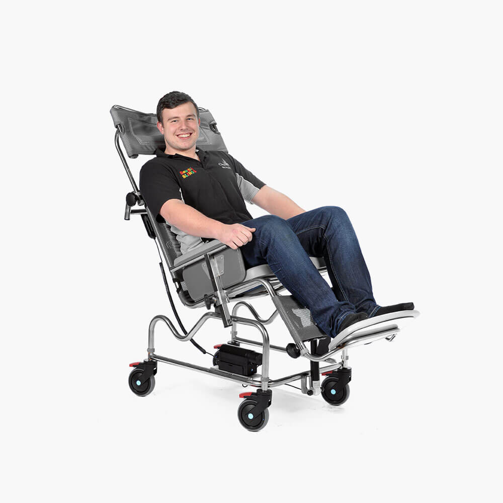 Electric Tilt in Space Shower Chair