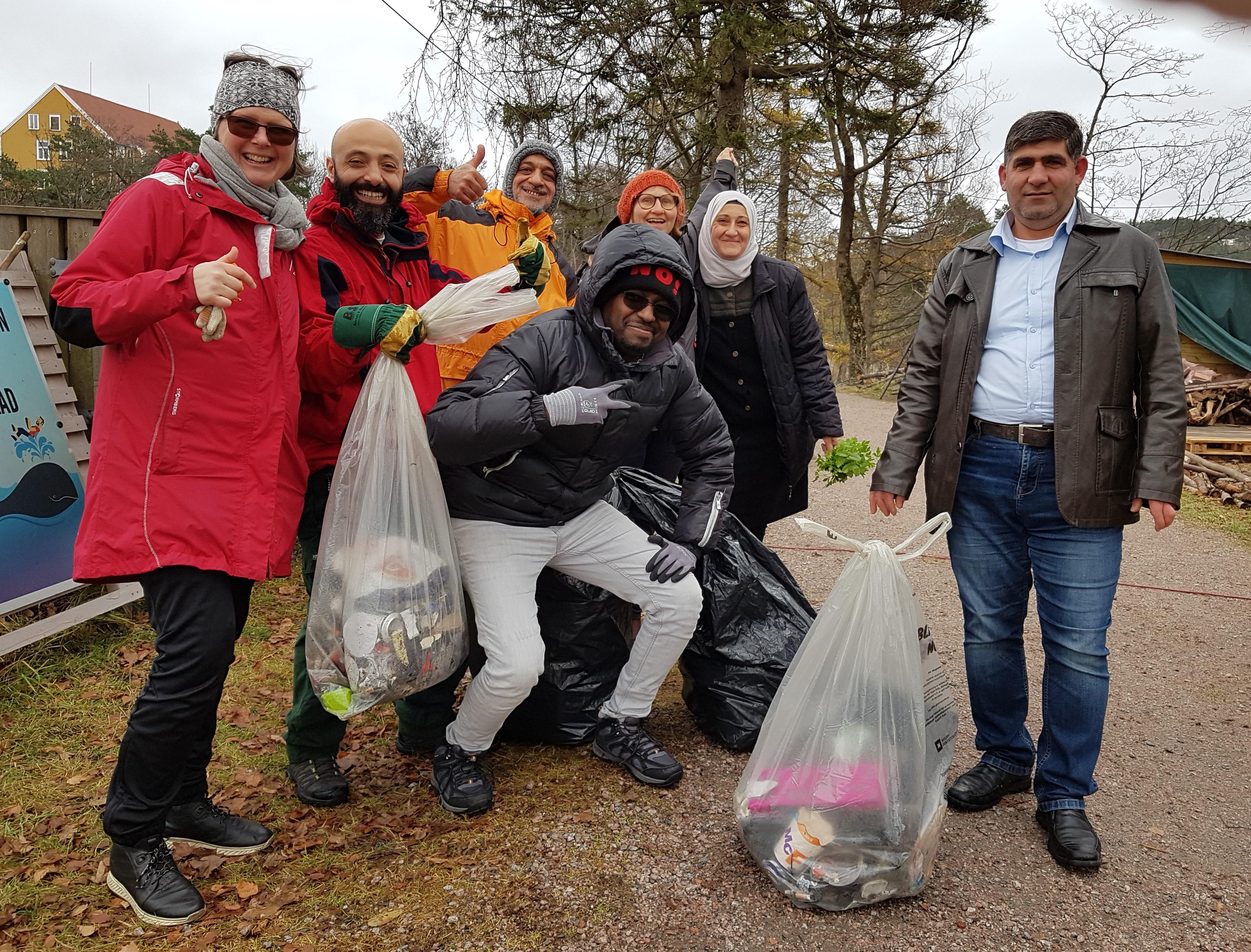 Ryddedugnad på Odderøya - bli kjent med en asylsøker