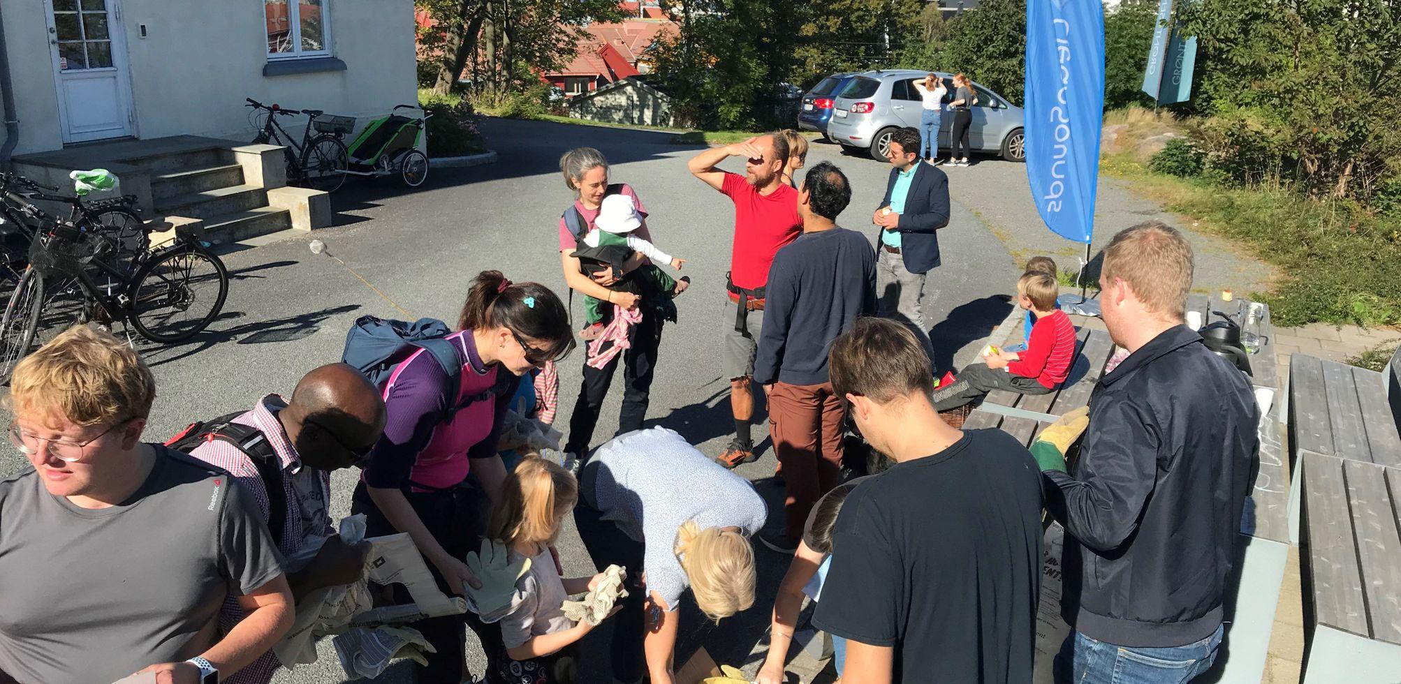 Kristiansand Folkehøskole - miljødag og ploggeraksjon