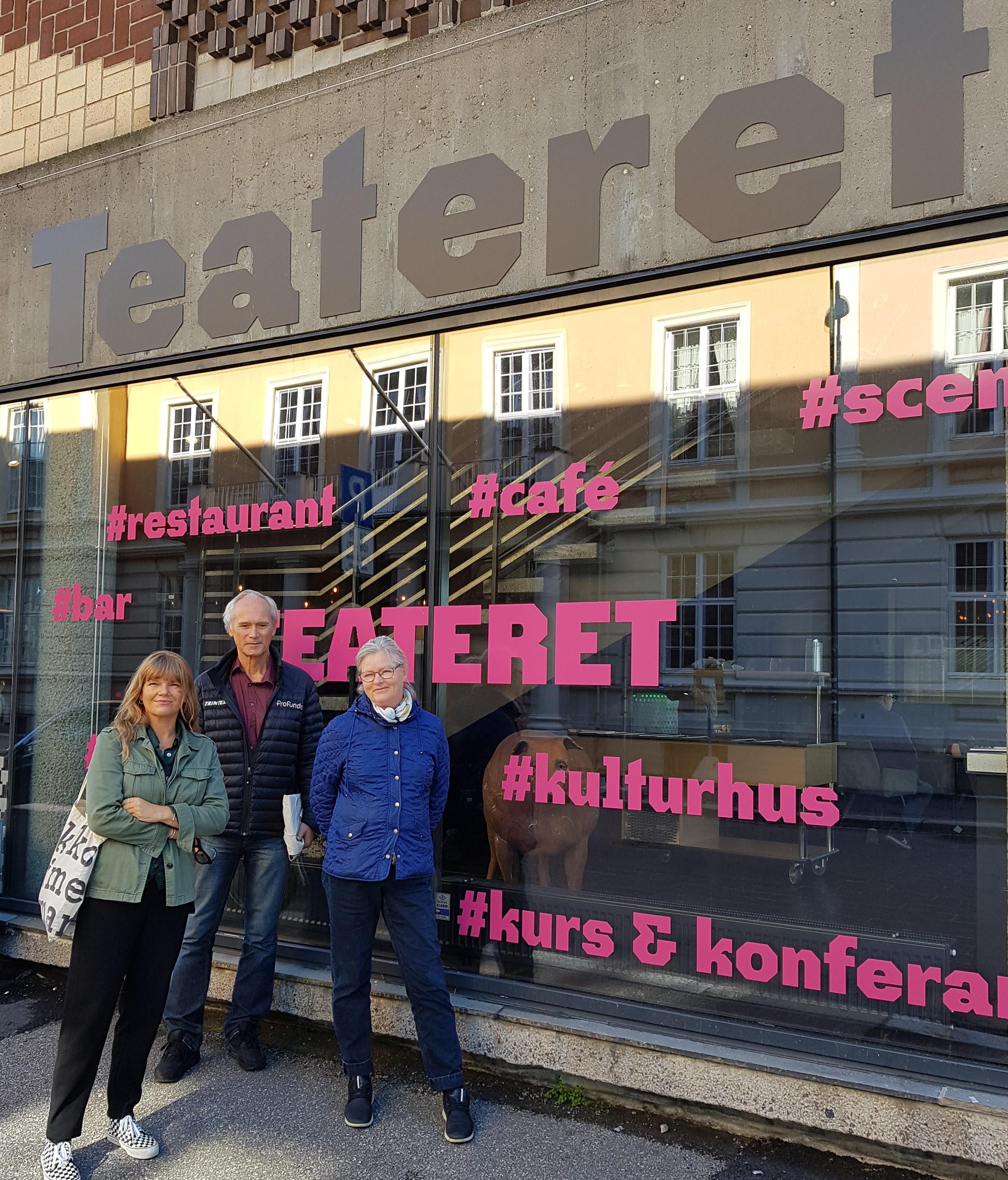 """Ny webadresse for arrangementer: www.teateret.no   Webadresse for """"Høbben"""" i Dr. gate kommer"""