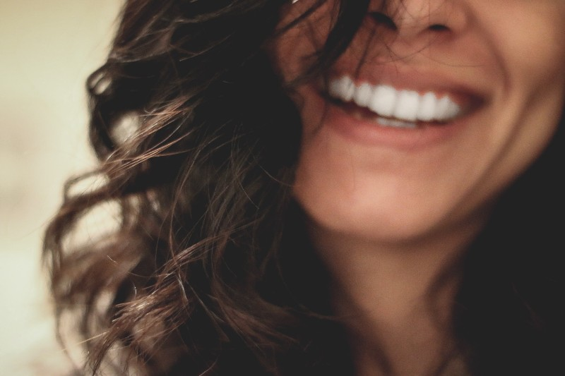 up close of woman smiling
