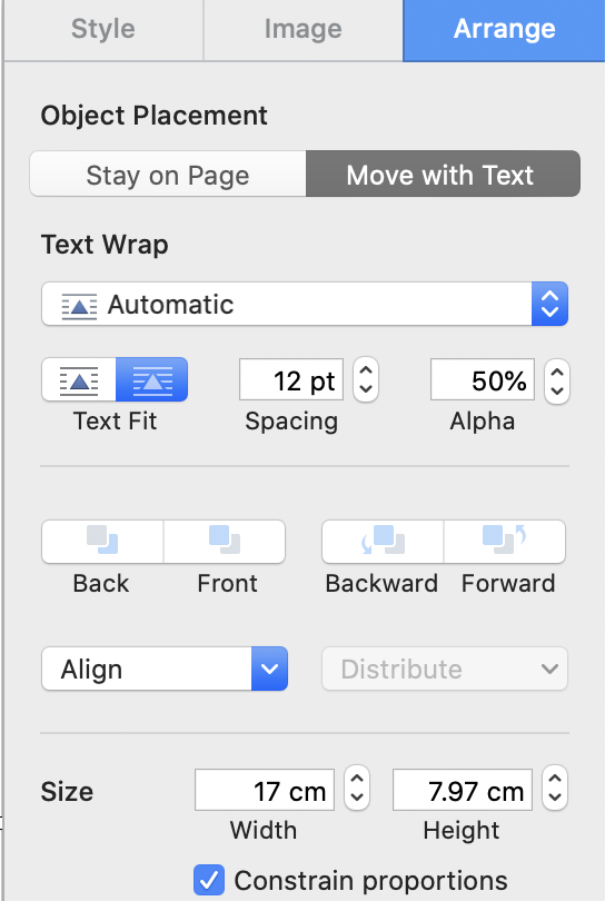 Adjust settings as needed in Pages' Preferences