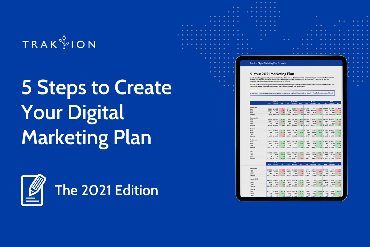 5 Steps to Create Your 2021 Digital Marketing Plan