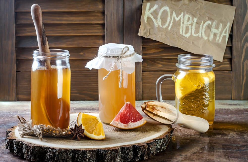 More homemade Kombucha.