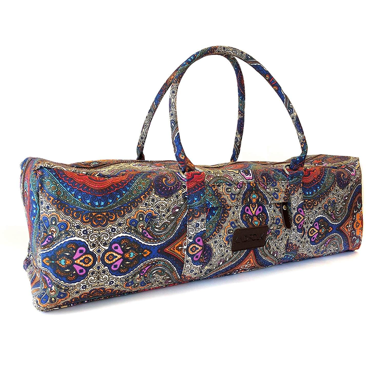 The Kindfolk Yoga Mat Duffle Bag - a colorful bag for a yoga mat.