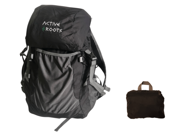 The packable day pack by Active Roots.