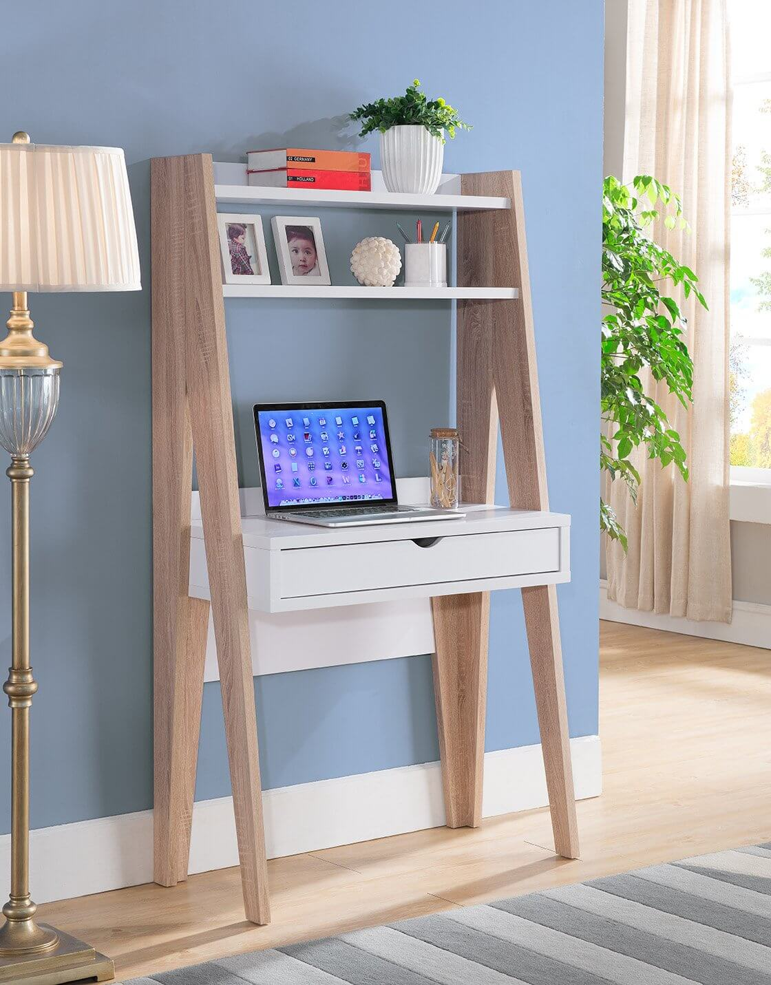A ladder desk.