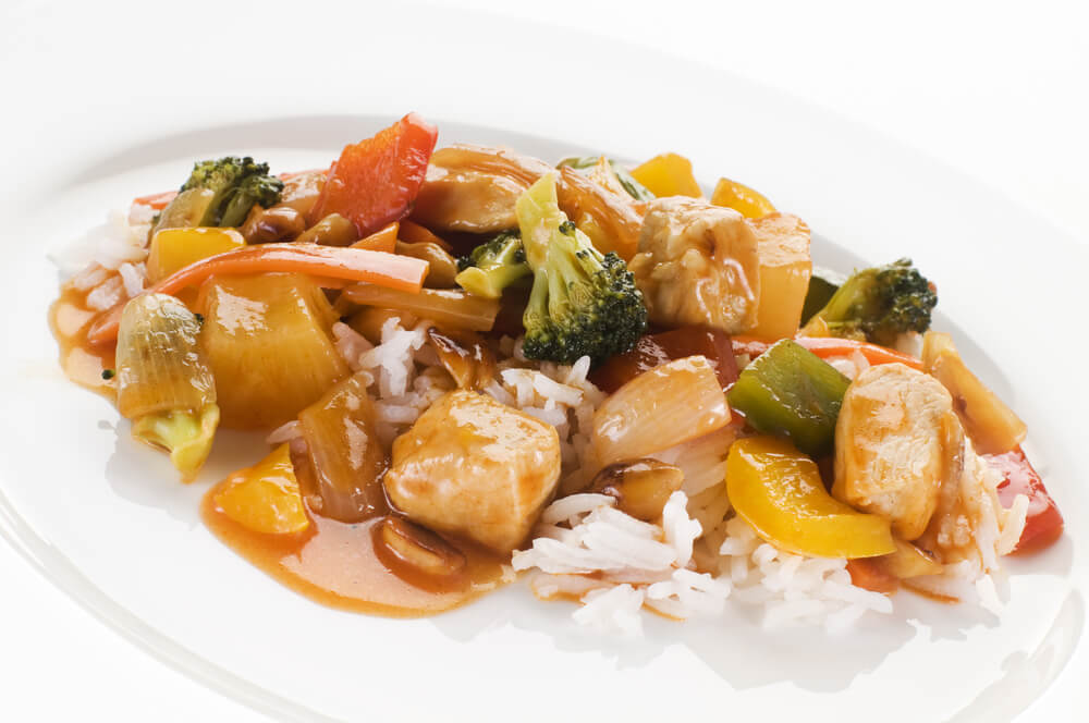 A healthy Chinese dish.