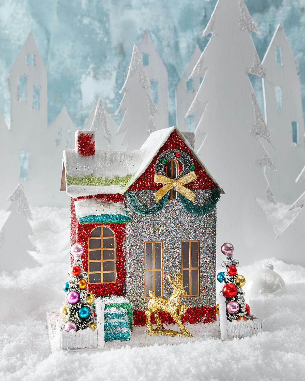 A glittery Christmas diarama.