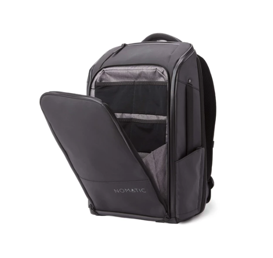 The Nomatic travel bag in black.