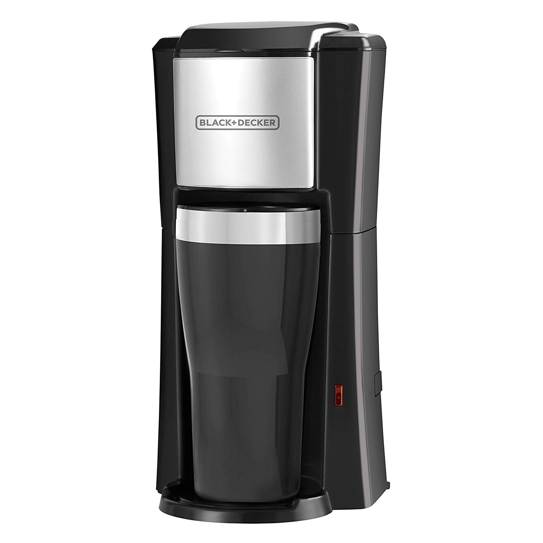A sleek single-serve coffee maker from Black and Decker