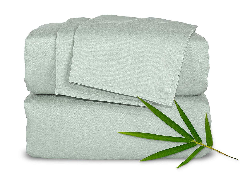 Green bamboo bed sheets.
