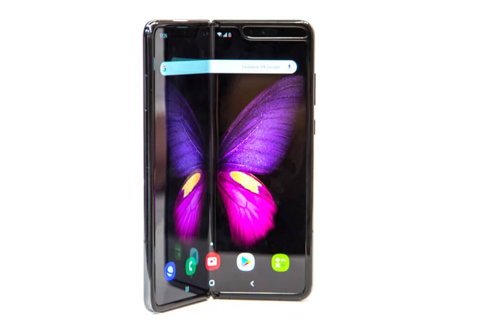 The folding Samsung phone.