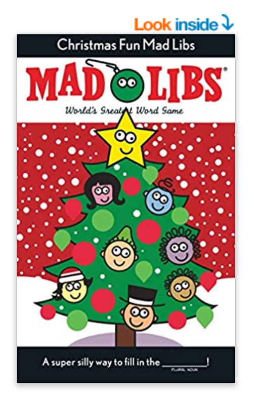 The cover of a Christmas Mad Libs book.