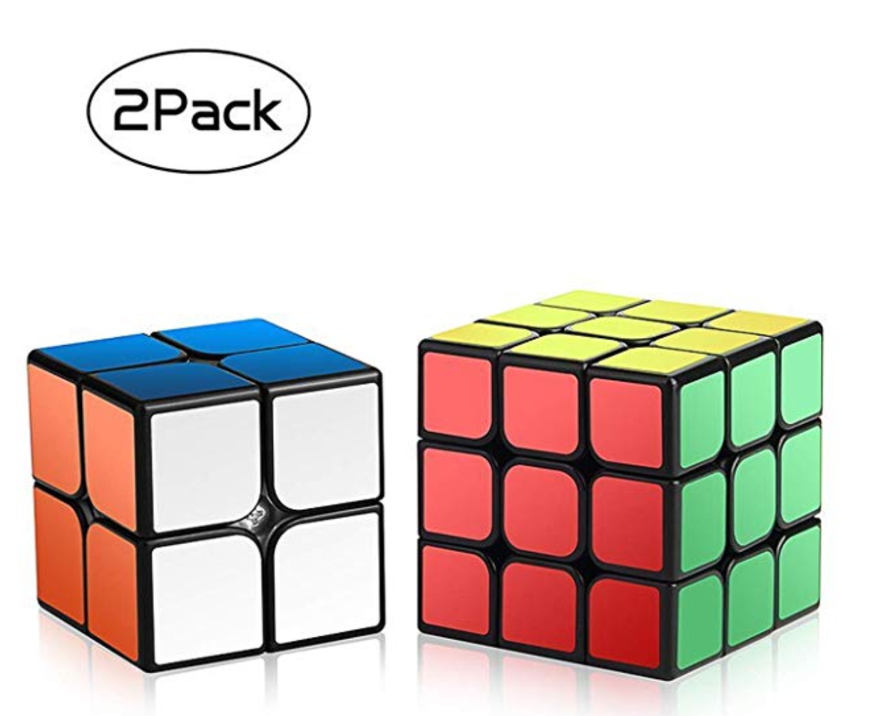 A 2 pack of Rubix cubes