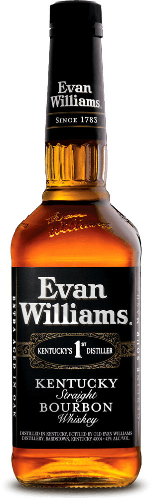 A bottle of Evan Williams Black Label