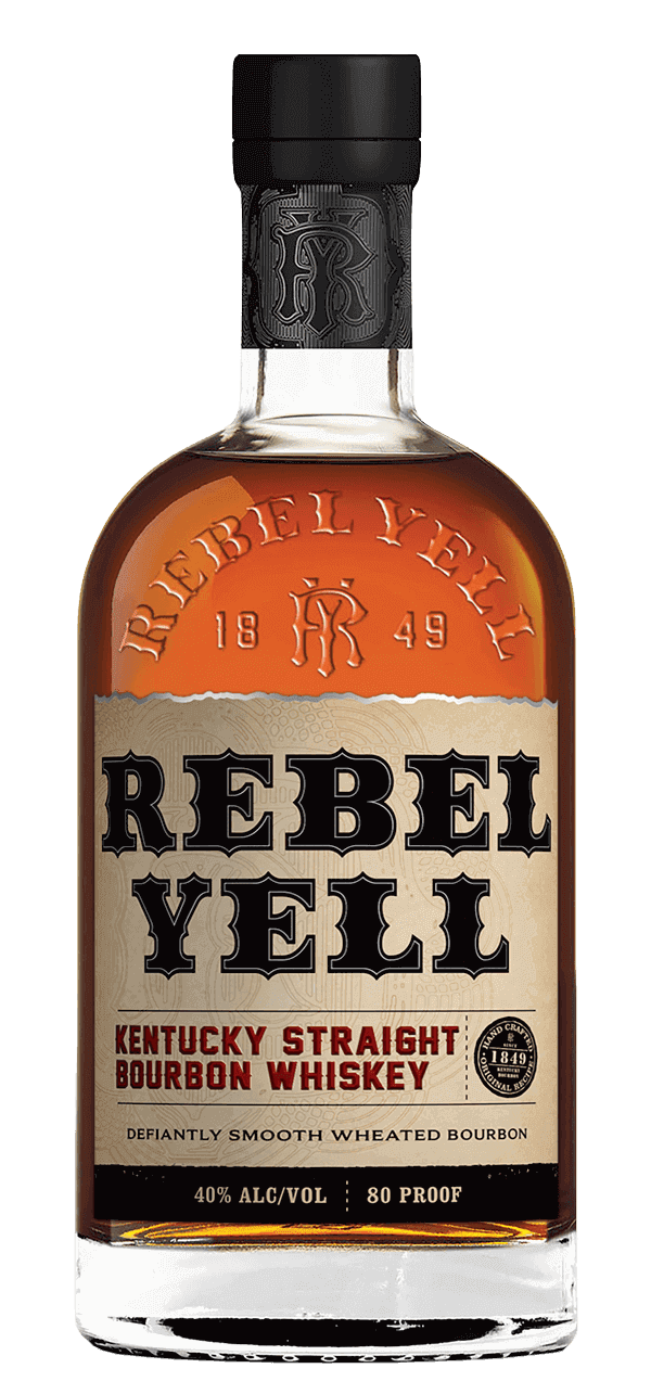 Rebel Yell Bourbon whiskey.