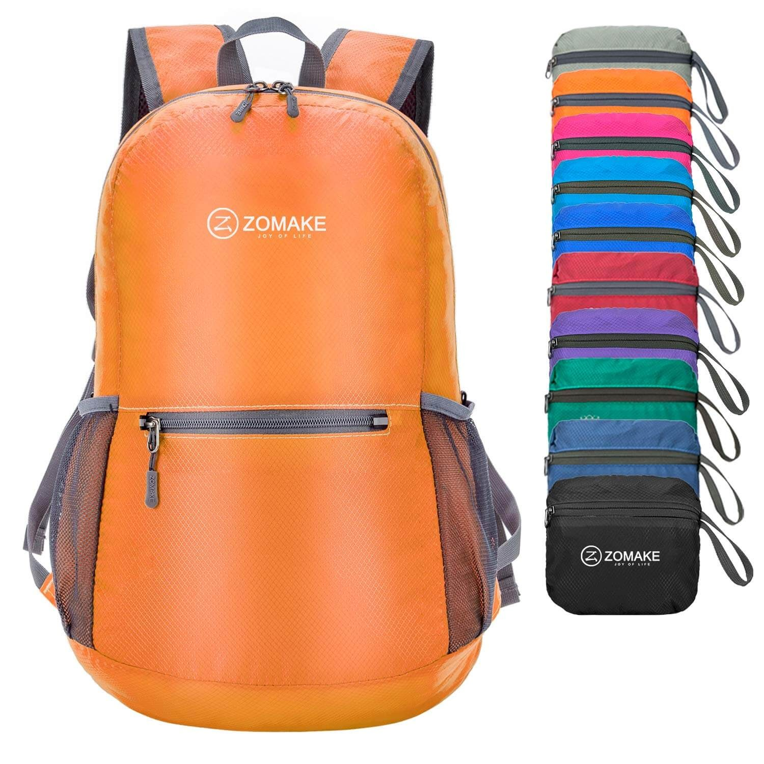 ZOMAKE Ultra Lightweight Packable Water-Resistant Backpack